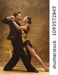 the young dance ballroom couple ... | Shutterstock . vector #1093572845
