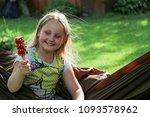 little girl having a rest in a...   Shutterstock . vector #1093578962