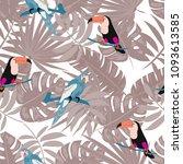 beautiful tropical seamless... | Shutterstock .eps vector #1093613585