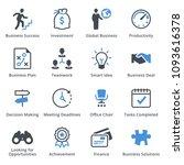 business icons set 1   blue... | Shutterstock .eps vector #1093616378
