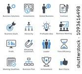 business icons set 2   blue... | Shutterstock .eps vector #1093616498