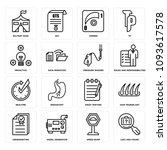 set of 16 simple editable icons ... | Shutterstock .eps vector #1093617578