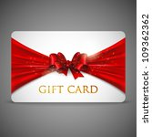 gift card with red bow | Shutterstock .eps vector #109362362