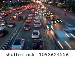 the city's traffic at night | Shutterstock . vector #1093624556