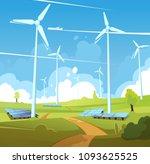 eco clean energy illustration.... | Shutterstock .eps vector #1093625525