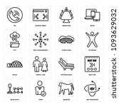 set of 16 simple editable icons ... | Shutterstock .eps vector #1093629032