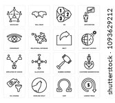 set of 16 simple editable icons ... | Shutterstock .eps vector #1093629212