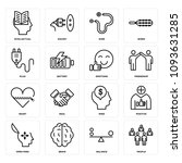 set of 16 simple editable icons ... | Shutterstock .eps vector #1093631285