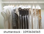 clothing female dress hanging... | Shutterstock . vector #1093636565