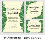wedding invite  invitation rsvp ... | Shutterstock .eps vector #1093637798