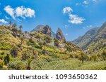 la gomera island cliffs sunny... | Shutterstock . vector #1093650362