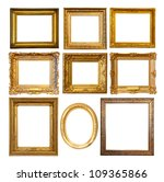 set of few luxury golden frames.... | Shutterstock . vector #109365866