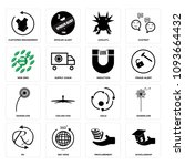 set of 16 simple editable icons ... | Shutterstock .eps vector #1093664432