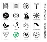 set of 16 simple editable icons ...   Shutterstock .eps vector #1093664612