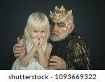 little blond smiling angel in... | Shutterstock . vector #1093669322