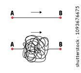 vector illustration. the path... | Shutterstock .eps vector #1093676675