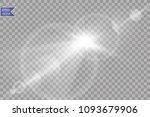 vector transparent sunlight... | Shutterstock .eps vector #1093679906