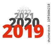 new year 2019 concept   row of... | Shutterstock .eps vector #1093686218