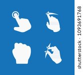 filled set of 4 gestures icons... | Shutterstock .eps vector #1093691768
