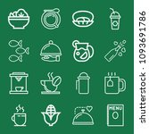 outline set of 16 food icons... | Shutterstock .eps vector #1093691786