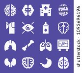 set of 16 medical filled icons...   Shutterstock .eps vector #1093696196