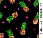 Neon Pineapples And Hearts  ...