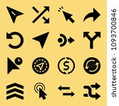 filled set of 16 arrows icons...   Shutterstock .eps vector #1093700846
