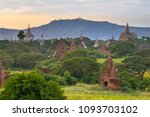 beautiful view of buddhist... | Shutterstock . vector #1093703102