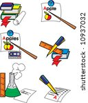 icons for university subjects....   Shutterstock .eps vector #10937032