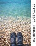 close up of a man legs wearing... | Shutterstock . vector #1093711622