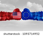 europe usa trade fight and... | Shutterstock . vector #1093714952