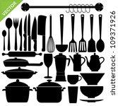 set of kitchen tools... | Shutterstock .eps vector #109371926