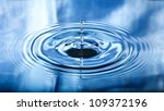 round droplets of water over... | Shutterstock . vector #109372196