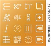 signs icon set   outline... | Shutterstock .eps vector #1093731452