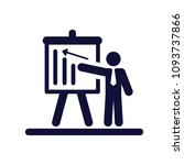 presentation board  man showing ... | Shutterstock .eps vector #1093737866