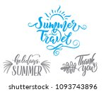 summer holidays quotes. vector... | Shutterstock .eps vector #1093743896