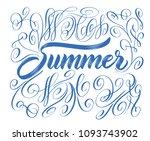summer holidays quotes. vector... | Shutterstock .eps vector #1093743902