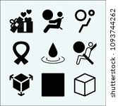 shapes related set of 9 icons...   Shutterstock .eps vector #1093744262