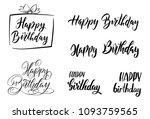 happy birthday. vector... | Shutterstock .eps vector #1093759565