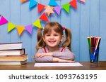 portrait of lovely girl in... | Shutterstock . vector #1093763195