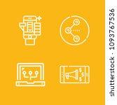 social media outline set of...   Shutterstock .eps vector #1093767536