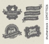 vintage hand drawn labels... | Shutterstock .eps vector #109377026