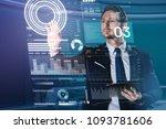 elegant worker. clever... | Shutterstock . vector #1093781606