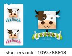 set of cow milk farm logo... | Shutterstock .eps vector #1093788848