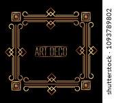 elegant antiquarian frame in... | Shutterstock .eps vector #1093789802