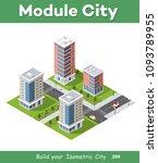urban area of the city | Shutterstock . vector #1093789955