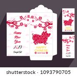 chinese new year red envelope... | Shutterstock .eps vector #1093790705