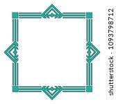 art deco frame elegant... | Shutterstock .eps vector #1093798712