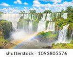 beautiful view of iguazu falls... | Shutterstock . vector #1093805576