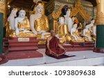 Burmese Budhist Monk  Hands...